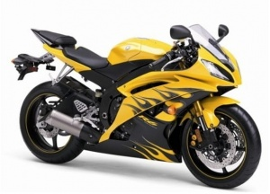 YAMAHA YZF R6 2009 YELLOW