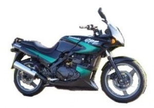 KAWASAKI GPZ 500 S 1998-2001 BLACK-GREEN