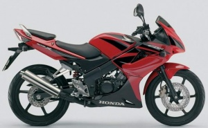 HONDA CBR 125R 2004-2006 BLACK RED
